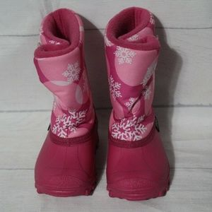 Tundra Pink Snow Boots Kids Toddler Size 5